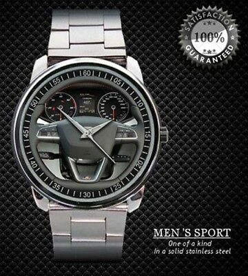 Seat Leon 1.4 TSI FR 5 Steering Wheel wristwatch Gift Sport Metal Watch