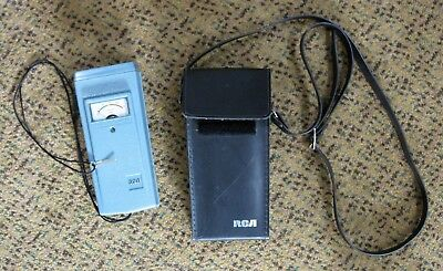 Vintage RCA WE-130A Sound Level Meter w/ Black Leather Case - Works Made in USA