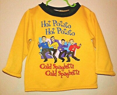 2003 The Wiggles Boys Size 3T Yellow Sweatshirt, Hot Potato Cold Spaghetti