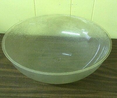 "Vtg 16"" Clear Textured Plastic Restaurant Salad Bar Salad Serving Bowl"