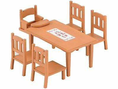 Sylvanian Families Family Table and Chairs Furniture Suitable Item for Dining