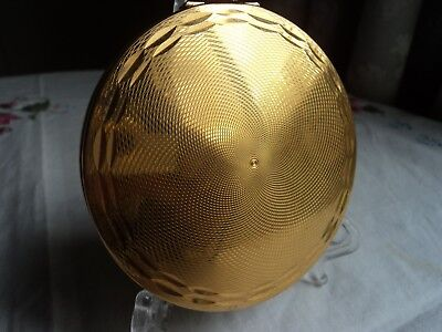 Vintage Gold Plated Stratton convertible powder compact - 1960's Great Condition
