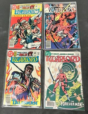 The Warlord DC Comics Lot of 4 Books In Protective Sleeves Vintage 1982-1984