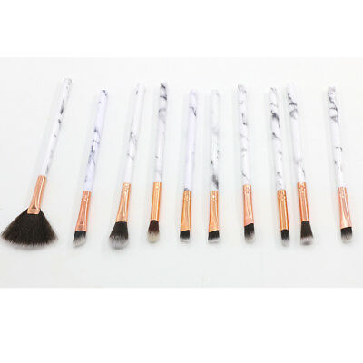 10PCS Makeup Brushes Set Marble Pattern Powder Blush Eyeshadow Cosmetic Tool hhb