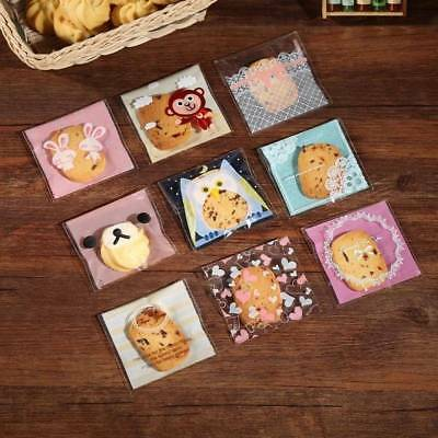 Cute Cartoon Bakery Cookie Candy Self-Adhesive OPP Plastic Gift Bags 7CM 10 Pcs