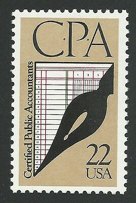 Vintage CPA Certified Public Accountants Accounting Commemorative US Stamp MINT!