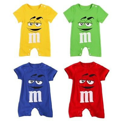 M&M Short Sleeve One size Baby Toddler Infant Rompers Unisex 12m-3T