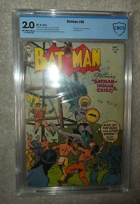 DC COMICS BATMAN CGC CBCS 2.0 Joker appearance 86  1st batmarine golden age