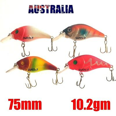 4 Redfin & Bream Freshwater Fishing Lures, Flathead, Bass, Perch, Trout,Cod Lure