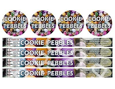 Cookie Pebbles Cali Tin Labels (16 Stickers)