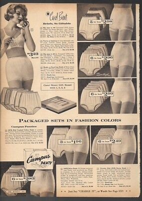 Pretty Woman in Satin Undies Vintage Catalog Lingerie Photo Clipping