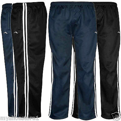 Boys Tracksuit Bottoms Silky Joggers Jogging Striped Sports Pants Trousers