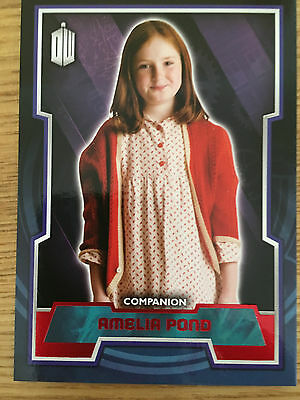 Topps Doctor Who 2015 Red Parallel 34 Base Card Amelia Pond 10/50