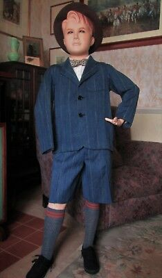 Original True Vtg  NOS 30's / 40's Boy Teenager Wartime Evacuee 2 pc Suit RARE