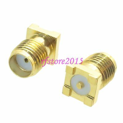 1pce Connector SMA female jack solder PCB mount SMD SMT straight RF COAXIAL