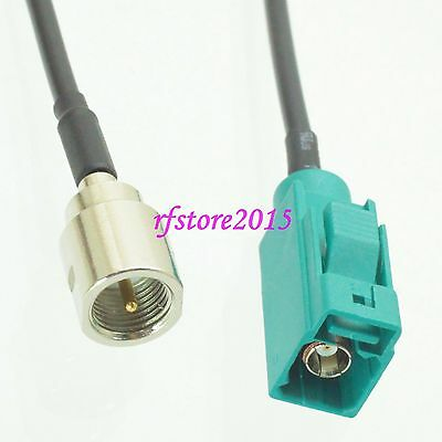 Cable RG174 6inch Fakra SMB Z 5021 female to FME male plug RF Pigtail Jumper