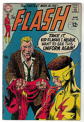 DC Comics THE FLASH Issue 189 The Fastest Man Alive! Kid Flash Appears VG+