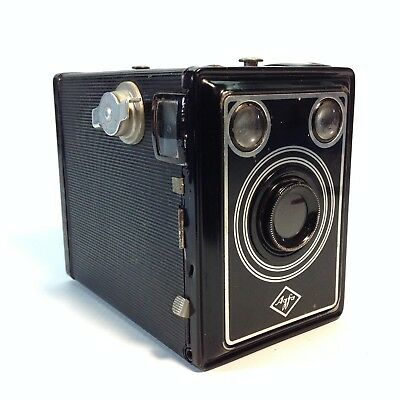 Vintage AGFA Box Camera with Leather Case