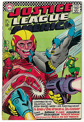 DC Comics JUSTICE LEAGUE OF AMERICA The World's Greatest Superheroes No 50 VG/F