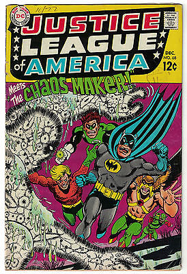 DC Comics JUSTICE LEAGUE OF AMERICA The World's Greatest Superheroes No 68 VG+