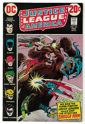 DC Comics JUSTICE LEAGUE OF AMERICA The World's Greatest Superheroes No 104 FN-