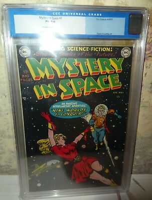 DC comics Mystery in Space 1 CGC 6.0  classic cover 1961 frank frazetta
