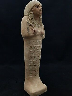 RARE ANCIENT EGYPTIAN ANTIQUE USHABTI Of QUEEN PHARAONIC STATUE LUXOR STONE BC