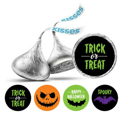 2 x Trick or Treat Vinyl Stickers Halloween Scary #7167