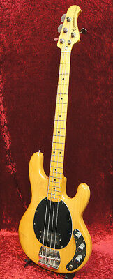 MUSIC MAN STINGRAY Made in USA Electric Guitar USED Natural with Soft Case