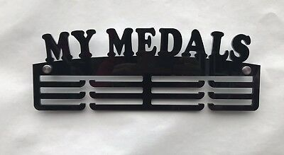 Thick 5mm Acrylic 3 Tier MY MEDALS Medal Hanger / Holder / Rack
