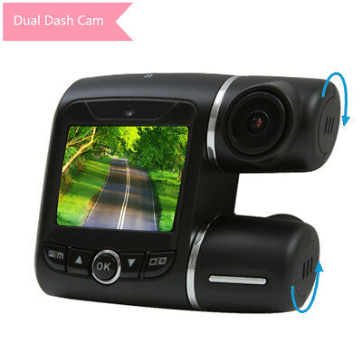 "2"" LCD Dual Dash Cam FHD Dual 1080P Front Rear View Car Camera Recorder G-Sensor"
