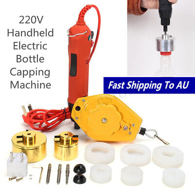 Handheld Electric Capping Machine Handle Manual Bottle Cap Sealer Sealing 220V