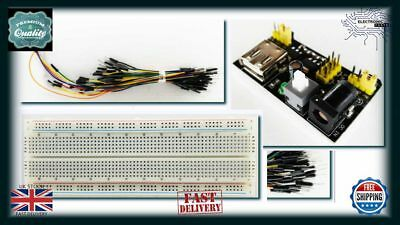 Arduino RPI Solderless Bread Board Prototype + 65pcs Jump Cable Wires PCB AA077