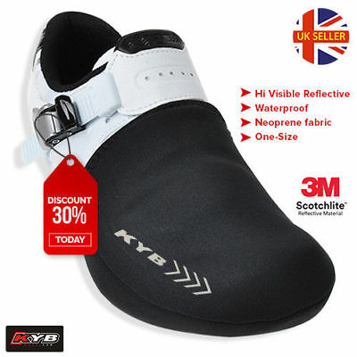 High Visible Thermal Cycling Shoe Toe Cover Protector Overshoe Cycle Bike Warmer