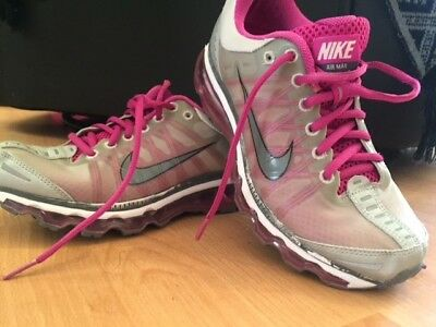 Nike Air Max Grey and Pink Lightweight trainers size 4, good condition