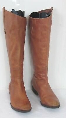3d6090f2b290 Sam Edelman PENNY 2 Whisky Brown Leather Tall Riding Boots Womens Size 8.5M