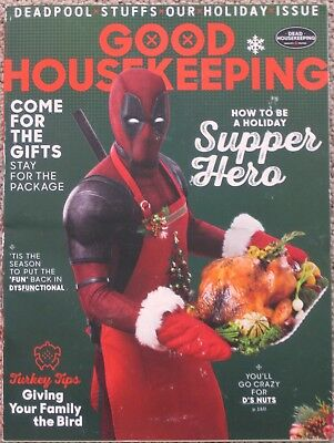 Deadpool Good Housekeeping December 2017 Holiday Magazine Promo Cover Rare!