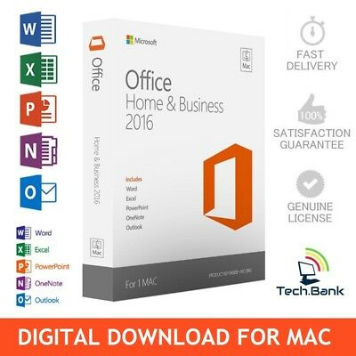 ⭐ Genuine Microsoft Office Home & Business 2016 - For Mac ⭐ Fast Delivery! ⭐