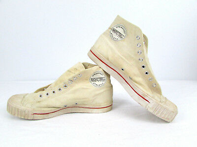 Vtg '50s? Springfast Canvas Basketball Shoes Sneakers USA Need TLC Restoration