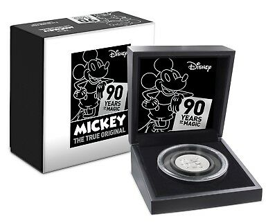 2018  DISNEY MICKEY MOUSE 90TH ANNIVERSARY ULTRA HIGH RELIEF - 2 oz. SILVER COIN