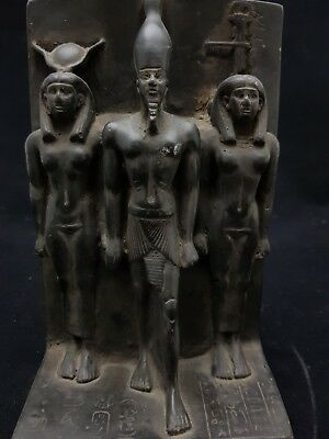 RARE ANCIENT EGYPTIAN ANTIQUE STATUE EGYPT Orisis AND Nephthys and isis 1375 BC