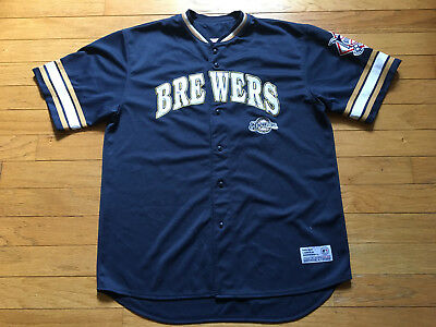 Milwaukee Brewers Prince Fielder Mlb Baseball Jersey True Fan Series Men Xl