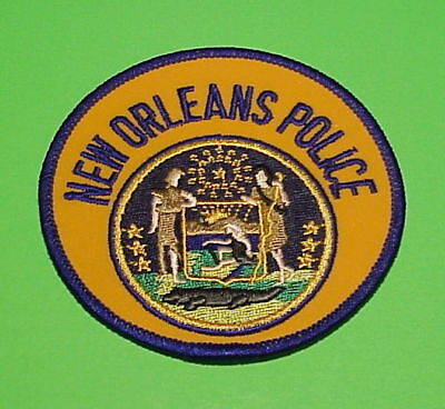 New Orleans  Louisiana  ( Smooth Yellow Background Var. )  Police Patch