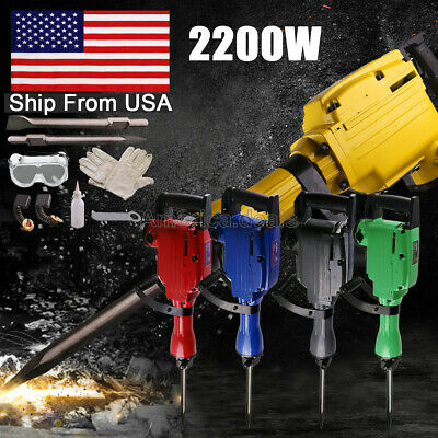 2200W Electric Power Breaker Construction Heavy Demolition Jack Hammer Punch