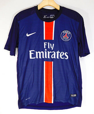 63535c98d NIKE FLY EMIRATES PARIS SAINT-GERMAIN JERSEY Blue Football Soccer Shirt  MEN S XS