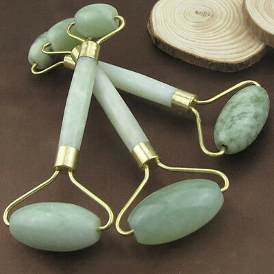 Natural Stone Facial Massage Faux Jade Roller Face Body Massager Beauty Filmy