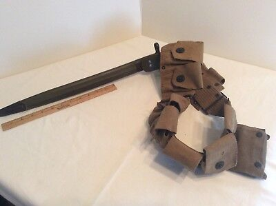 Wwi Ammo Belt With First Aid Kit And Bayonet