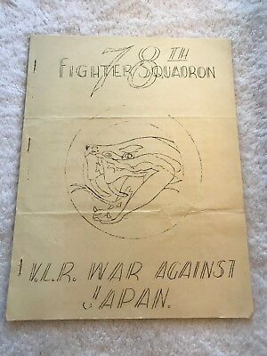 World War 2 U.S. 78th Fighter Squadron Iwo Jima to Tokyo Booklet 1945
