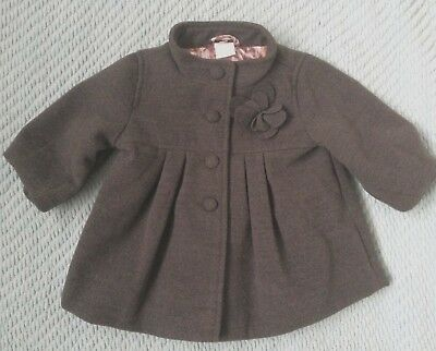 H&M GREY TRADITIONAL SMART DRESS COAT baby girl clothes 3-6 reborn CHRISTMAS