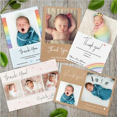 Personalised Pack of Christmas Thank You cards With Photo + Envelopes
